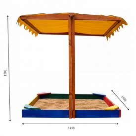 Детская песочница-23 SportBaby 145х145х140 см