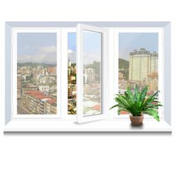 Металопластикове вікно KBE трьохстулкове 2060х1400 мм