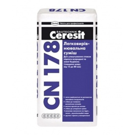 Легковирівнювальна суміш Церезіт СН-178 Ceresit CN 178 5-80 мм 25 кг