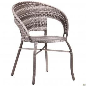 Крісло Catalina ротанг сірий