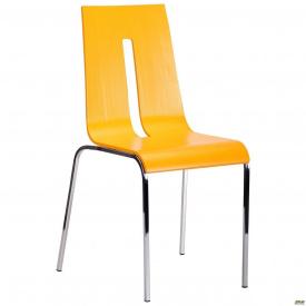 Стілець Порто хром колір RAL 1028 жовтий