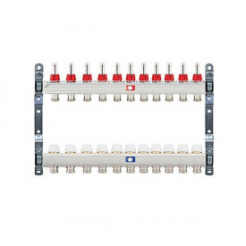 Коллектор для теплого пола Itap 1x3/4 на 11 выходов с расходомерами