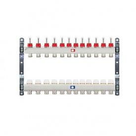 Коллектор для теплого пола Itap 1x3/4 на 12 выходов с расходомерами