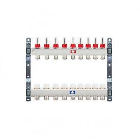 Коллектор для теплого пола Itap 1x3/4 на 9 выходов с расходомерами