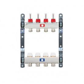 Коллектор для теплого пола Itap 1x3/4 на 4 выхода с расходомерами