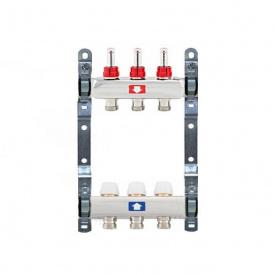 Коллектор для теплого пола Itap 1x3/4 на 3 выхода с расходомерами