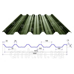 Профнастил Сталекс ПН-44 0,45 PEMA RAL 6020 (Optima Steel)