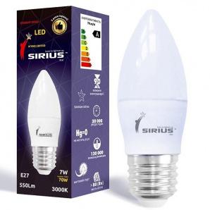 Світлодіодна лампа SIRIUS 1-LS-2205 C37 7W E27 3000K Свічка