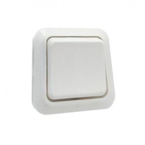 Вимикач одноклавішний настінний УТОС 6А Білий