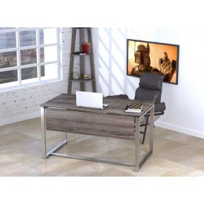 Письмовий стіл Loft design Q-135 1350х750х700 мм з царгою дсп дуб-палена