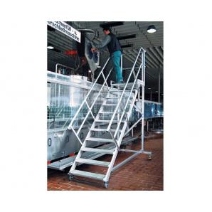 Пересувний трап з платформою KRAUSE легкий сплав 10 сходинок 600 мм нахил 60º