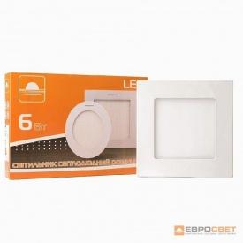 Світильник точковий накладної ЕВРОСВЕТ 6 Вт LED-SS-120-6 6400 К квадрат