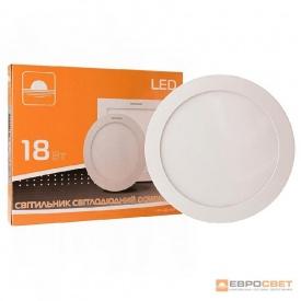 Світильник точковий накладний ЕВРОСВЕТ 18 Вт LED-SR-225-18 4200 К коло