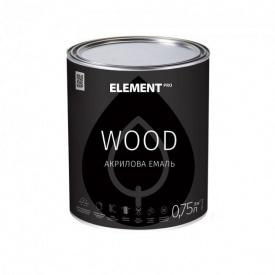 Емаль акрилова для деревини ELEMENT PRO WOOD 0,75 л