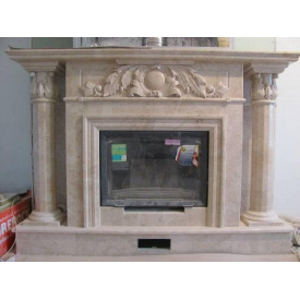 Мраморный камин Крема Нова