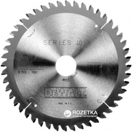 Диск пильный DeWalt по дереву 190 мм 40