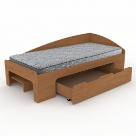 Кровать-90+1 Компанит 944х700х2042 мм ольха