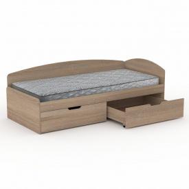 Кровать-90+2С Компанит 944х700х2042 мм дуб сонома