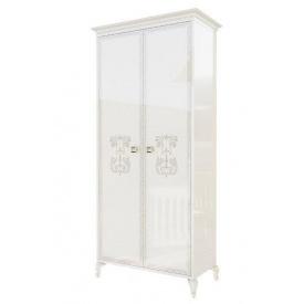 шкаф 2Д Вероника белый лак + печать Мир Мебели