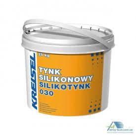 """Штукатурка силиконовая """"барашек"""" зерно 1,5 мм Kreisel SILIKOTYNK 030 PL 25 кг база В"""