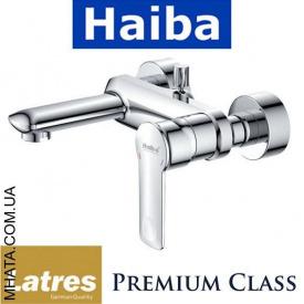 Смеситель для ванны короткий нос HAIBA LATRES FELINI Chr-009