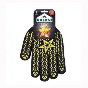 Перчатки Doloni 562 Звезда с ПВХ рисунком черные