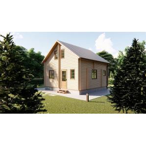 Строительство дома дачного 6х6 м из бруса с мансардой