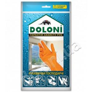Перчатки хозяйственные резиновые S TM DOLONI