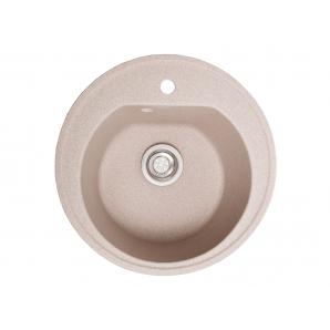 Мойка искусственный камень Solid КЛАССИК D510 розовый песок (с отверстием под смеситель)
