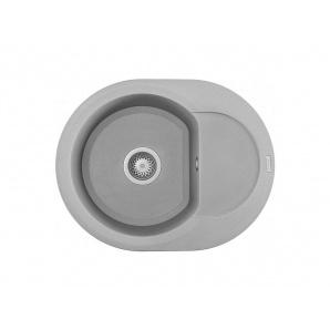Мойкаискусственный камень Elleci 600x470 Easy Round Aluminium M79
