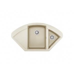 Мойкаискусственный камень Elleci 1057x575 Easy Corner Bianco Antico G62
