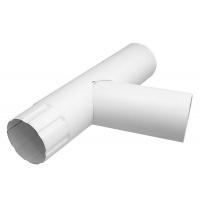Трійник Акведук Преміум 100 мм білий RAL 9010