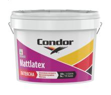 Миюча фарба для стель і стін Condor Mattlatex 5л