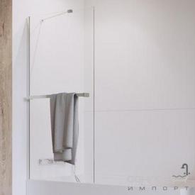 Шторка для ванни з тримачем рушника Radaway Idea PNJ 100 10001100-01-01W хром/прозоре скло