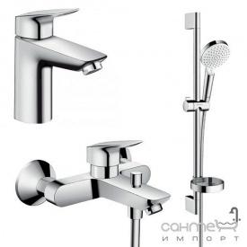 Набор смесителей для ванны Hansgrohe Logis 1082019 хром