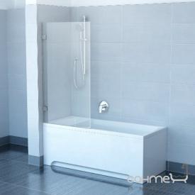 Шторка для ванни Ravak CVS1-80 L 7QL40100Z1 білий/прозорий ліва