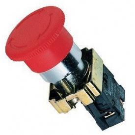 Кнопка управления нажимная с фиксацией и поворотом XB2-ВЅ542 красный стоп