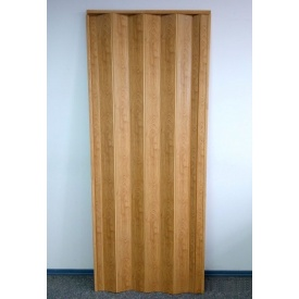 Межкомнатные двери гармошка ПВХ 81х203 см дуб