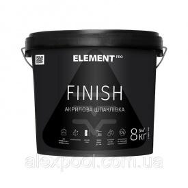 Финишная акриловая шпатлевка FINISH ELEMENT PRO 8 кг