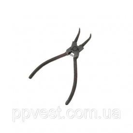 Щипцы для снятия и установки стопорных колец изогнутые на сжим INTERTOOL HT-7006