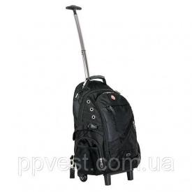 Рюкзак дорожный 3 отделения 30 л на колесах с телескопической ручкой INTERTOOL BX-9024