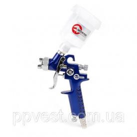 Краскопульт пневматический HVLP MINI верхний пластиковый бачок INTERTOOL PT-0101