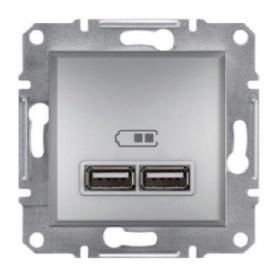 Розетка USB алюминиевая Schneider electric Asfora