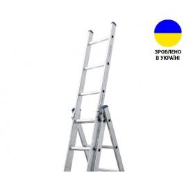 Трехсекционные лестницы Алюминиевая трехсекционная лестница 3х12 ступеней TRIOMAX VIRASTAR