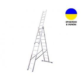 Трехсекционные лестницы Алюминиевая трехсекционная лестница 3х11 ступеней TRIOMAX VIRASTAR