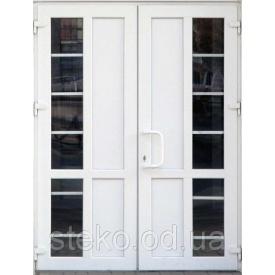 Двух-створчатые Пластиковые входные двери Steko 1300x2050
