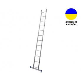 Односекционные лестницы Алюминиевая односекционная лестница 14 ступеней UNOMAX VIRASTAR