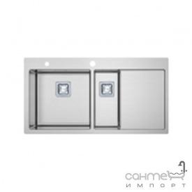 Кухонна мийка Fabiano TOP 89х15 R10 890х510 нержавіюча сталь чаша ліворуч