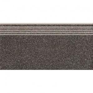 Керамогранитная ступень Cersanit Milton Graphite Steptread 8х598х298 мм
