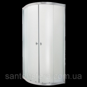 Душевая кабина Invena MARBELLA профили хром матовое стекло 90x90 см